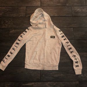 Cream zip up jacket